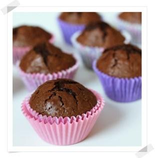 Magdalenas de Chocolate con Nueces