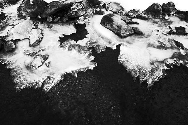 Ice on Thayer Brook