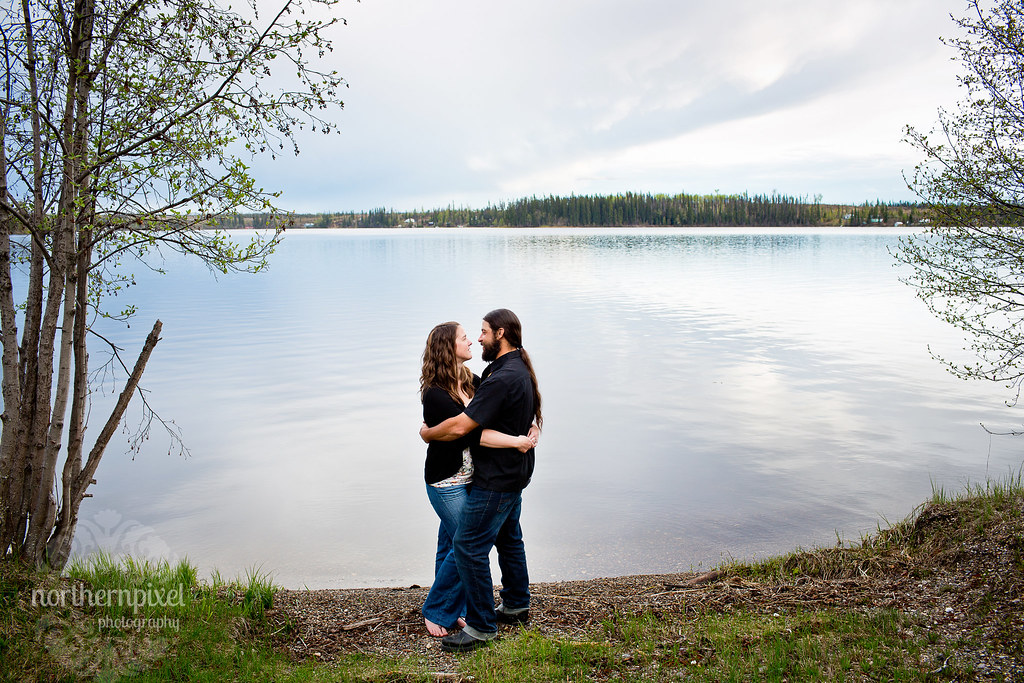 Engagement Session Bednesti Lake Northern BC