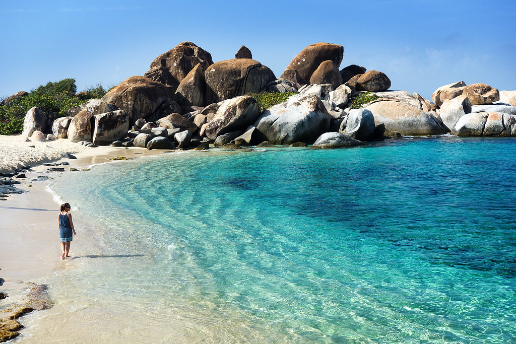 The beach we went to instead, Devils Bay Beach on Virgin Gorda.