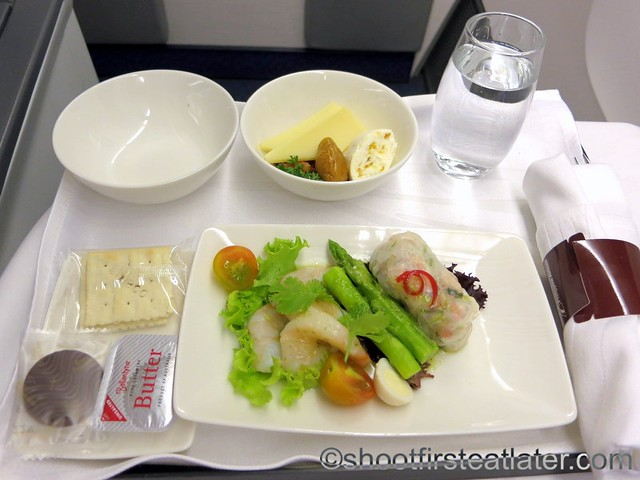 Philippine Airlines - Mnl-Mel business class meal-001