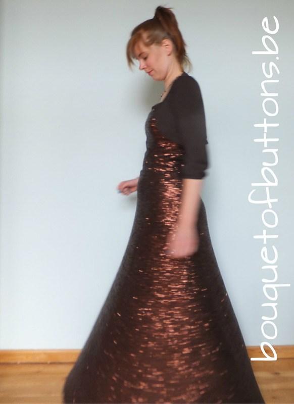 sequin gown twirl