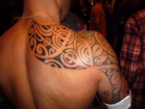 Tribal Shoulder Tattoos For Men Design Ideas Picture