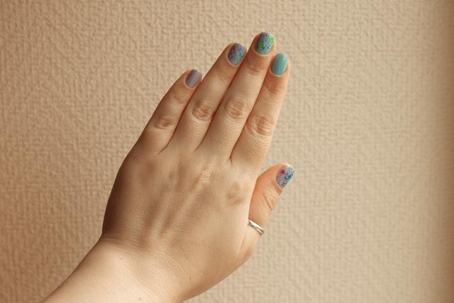 04-gaudi-nails-morgan-taylor-scene-queen+essie-mint-candy-apple+lushlacquer-blurple+splish-splash