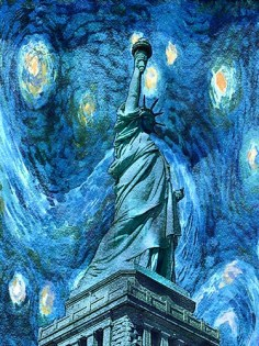 Statue Of Liberty – Van Gogh Style