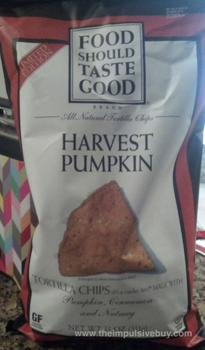 Limited Edition Food Should Taste Good Harvest Pumpkin Tortilla Chips