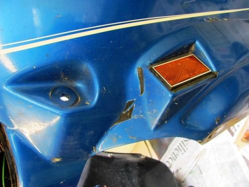 Left Side Paint Damage