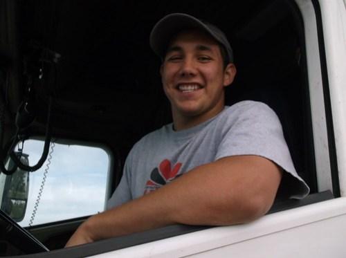 Jose driving truck