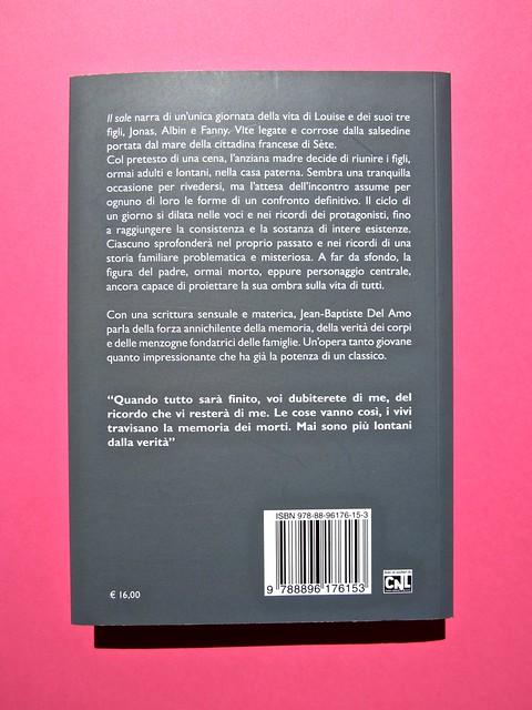 Jean_Baptiste Del Amo, Il sale. Neo edizioni. Prog. graf. e ill.: Toni Alfano. Ritr. fotog b/n dell'aut.: Sylvain Norget. Logo Potlach: Ricky Butler. Quarta di copertina (part.), 1