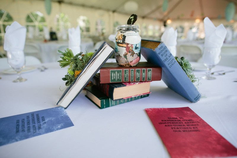 Book Centerpieces side view