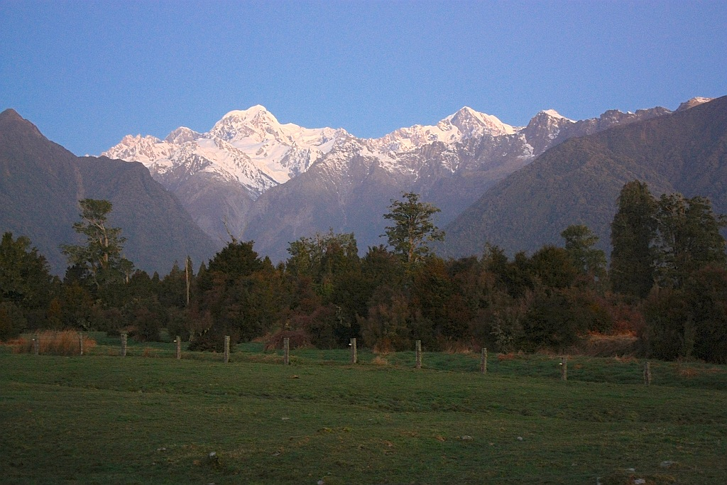 Mount Tasman, Mount Cook (Aoraki), near Lake Matheson, Fox Glacier Township, New Zealand South Island
