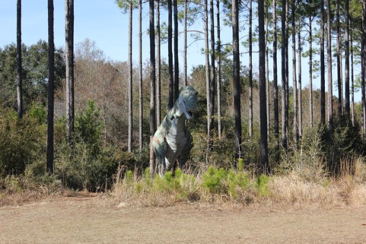 Mark Cline dinosaur sculptures