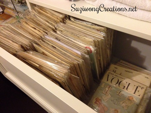 vintage pattern drawer - layettes