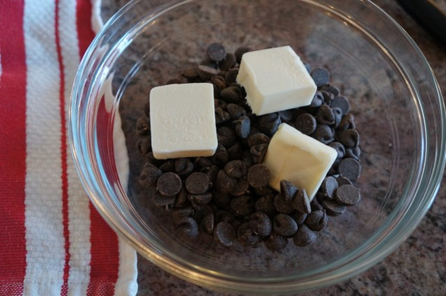 chocolate chips and butter