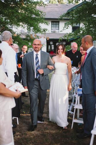 Walking into ceremony