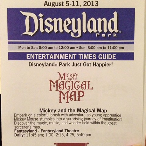 Mickey's Magical Mapの時間。5回開催。