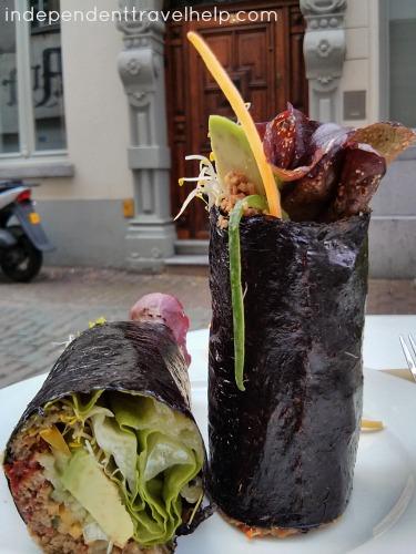 A Vegetarian Nori Wrap