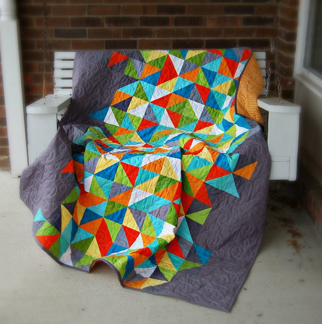 Healing Quilt Porch Swing