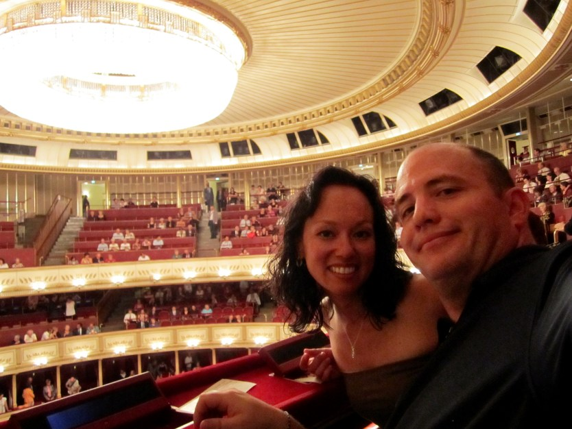 Heather and Matt about to enjoy the show at the Opera House.