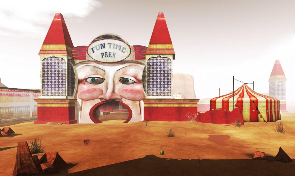 The ruined amusement park