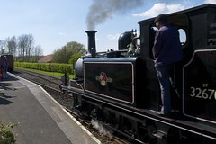 32670 pulling in to the platform at Bodiam