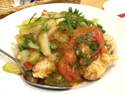 自家製イカ団子 トマトとデイルのソースで@オーセンティック