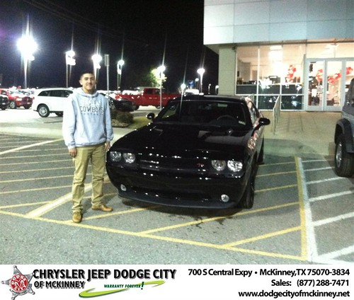 Thank you to Rafael Villa Iii on your new 2014 #Dodge #Challenger from George Rutledge and everyone at Dodge City of McKinney! #NewCarSmell by Dodge City McKinney Texas