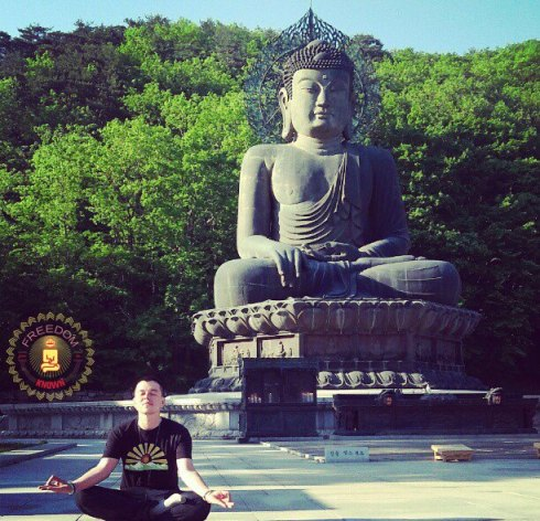Meditating With Buddha