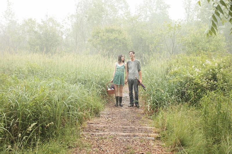 Cambridge Rainy Day Engagement Photography