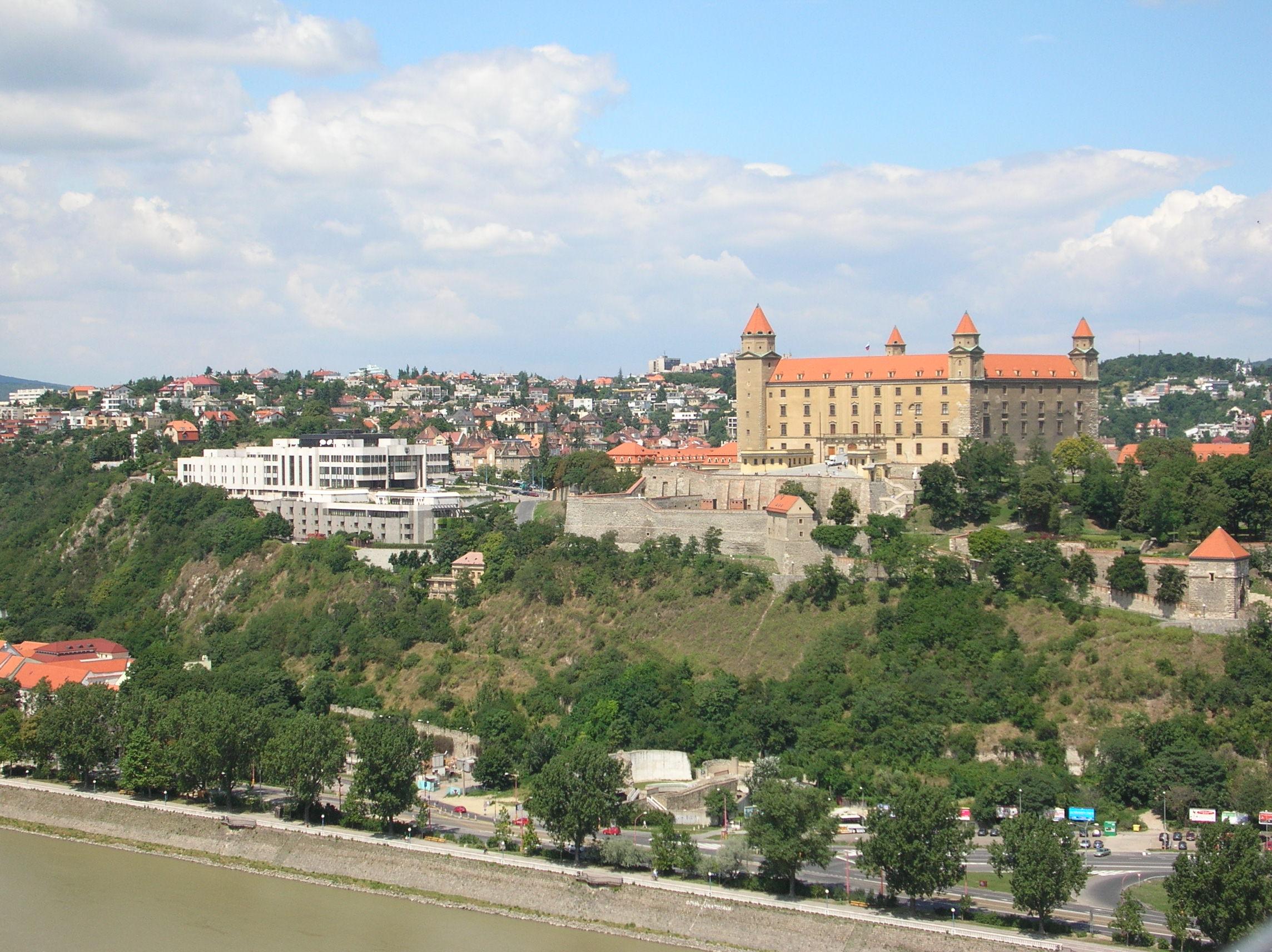 Castle of Bratislava and the Slovakian Parliament, Bratislava, Slovakia