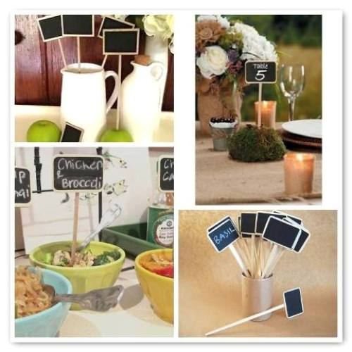 mini blackboard stakes