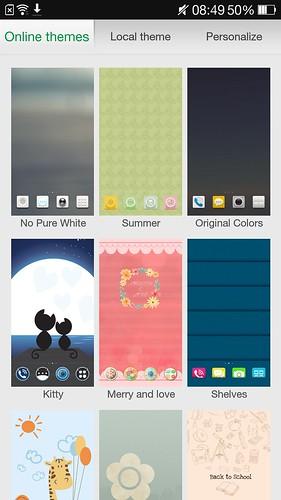เปลี่ยนธีมของ User Interface ได้หลากหลายแบบ