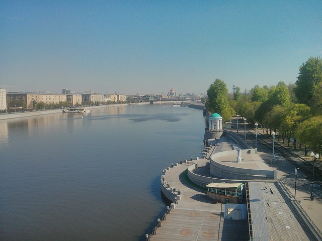 Moscow river near Gorky park