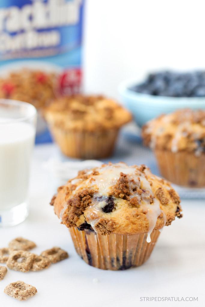 cracklin oat bran blueberry crunch muffins recipe #ad #shop #reimaginecereal #collectivebias