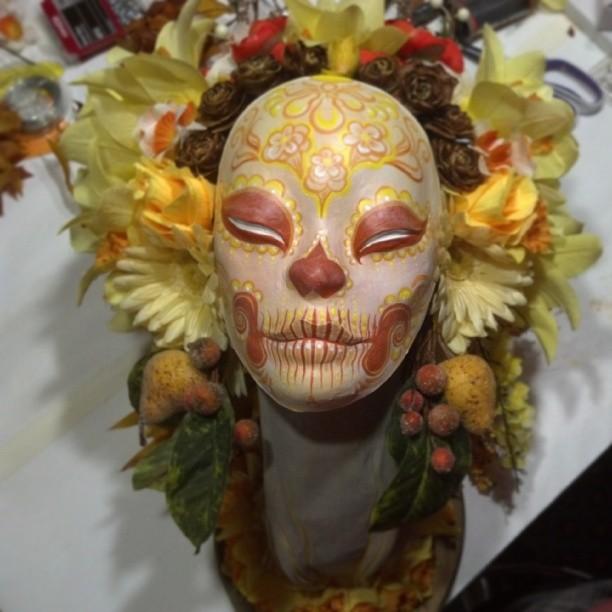 #Pear, #daisy, and #daffodil #muertita #art .  Golden #harvest !