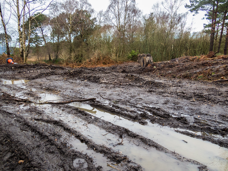 Contractors have made a real mess of the old railway line