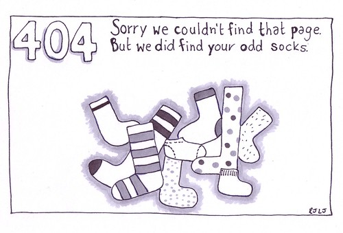 The 404 that didn't make it - Socks