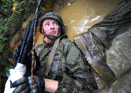 NMCB-3 participates in an eight-day jungle training program.