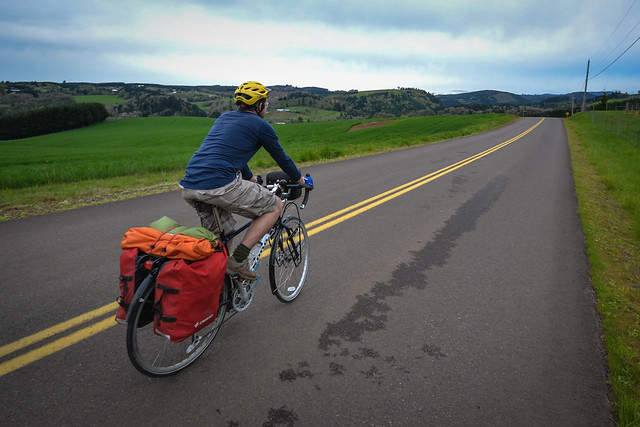 Crosso Twist panniers in use