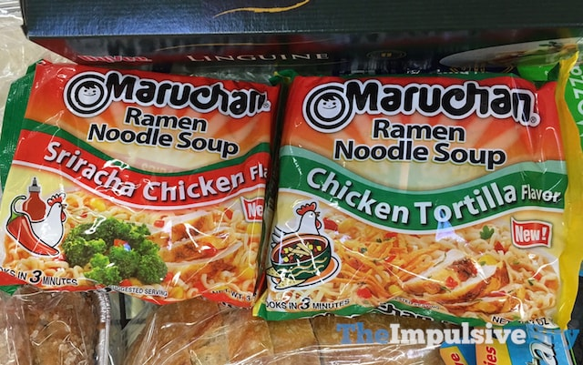 Maruchan Sriracha Chicken and Chicken Tortilla Ramen Noodle Soup