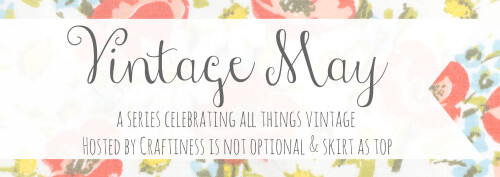 Vintage May: Presented by Craftiness is not Optional and skirt as top