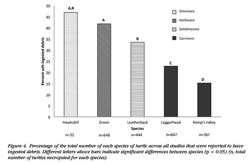 Global analysis of anthropogenic debris ingestion by sea turtles