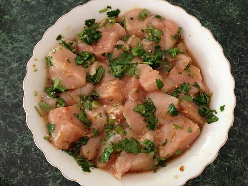 Chicken in cilantro lime marinade