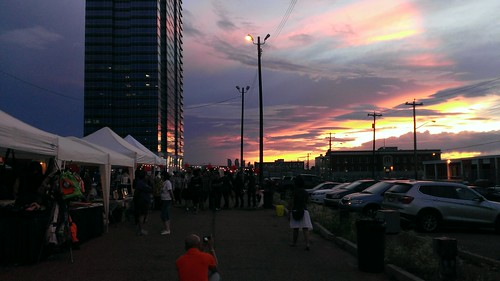 97 Street Night Market at sunset