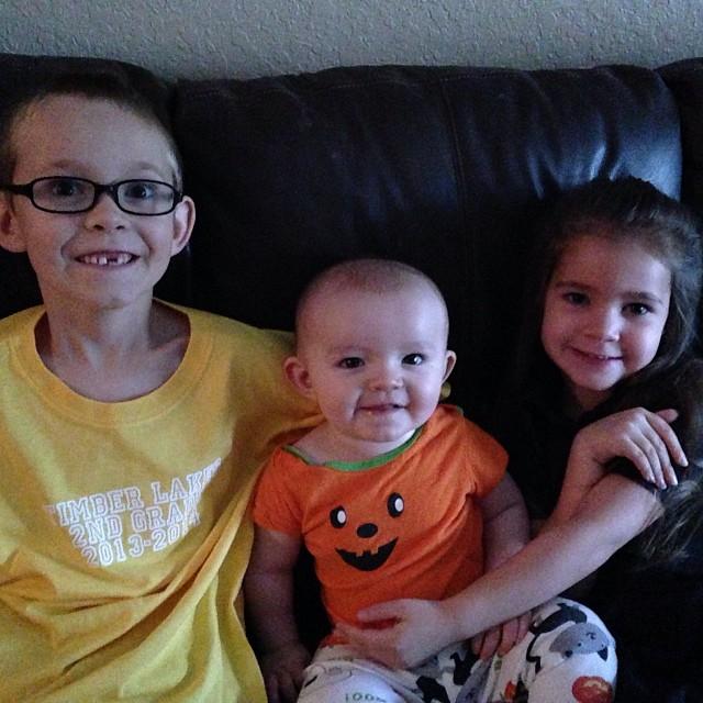 Happy Halloween from my three locos.