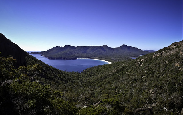 Wineglass Bay, as seen from the lookout at the saddle, Freycinet National Park