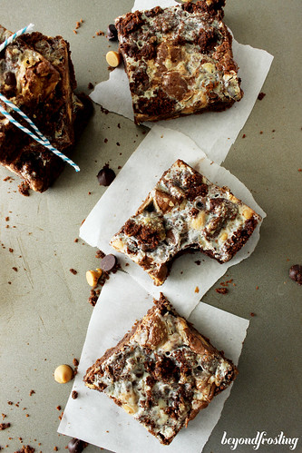 Chocolate Peanut Butter Cake Bars