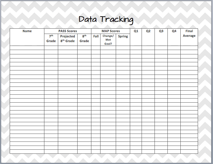 Data Tracking Form