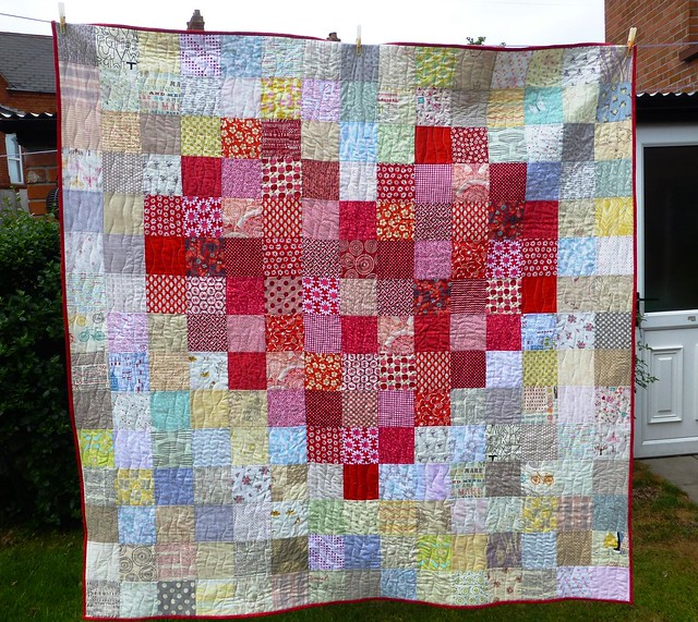 Pixelated Heart Quilt 002