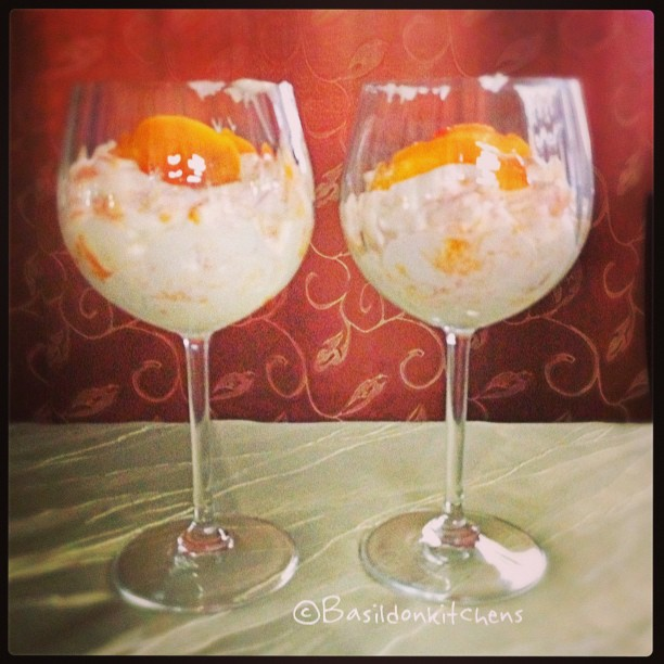 Aug 4 - fool {this 'prompted' me to make a peach FOOL for tonight's dessert} #photoaday #fool #dessert #peach #yummy